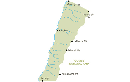 Gombe Stream National Park Map