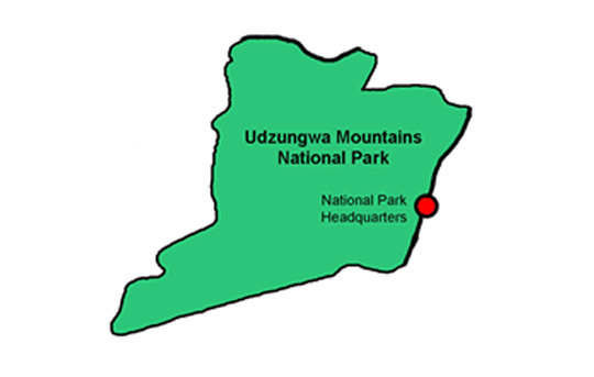 Udzungwa National Park Map