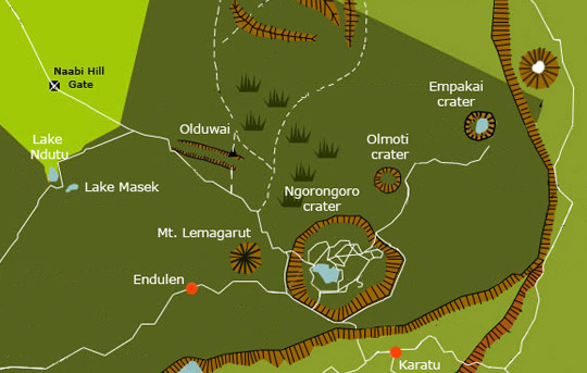 Ngorongoro Highlands Map